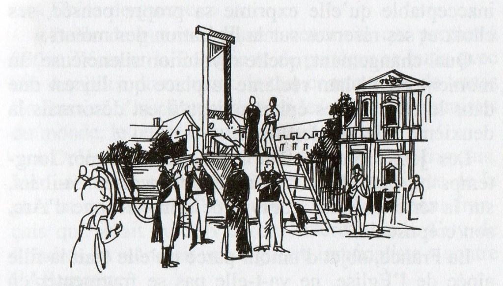 """Image illustrant l'article """"déchristianisation"""" du """"Dictionnaire amoureux de l'Histoire de France"""" (2011), p. 103. La sécularisation de la société française est associée à un processus sanglant."""