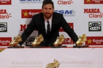 4e Soulier d'Or européen pour Leo Messi (VIDEO)