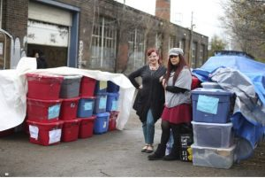 Laura-Jean Bernhardson and Julie Mahfouz at The Clothing Drive