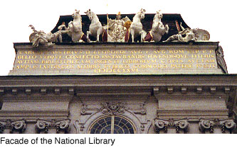 Facade of the National Library