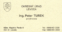 Peter Turek's card