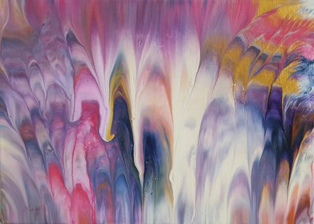 Enlightenment, abstract painting by Leslie Joy
