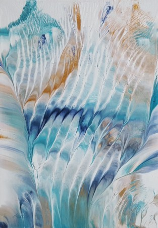 The Falls, abstract painting by Leslie Joy
