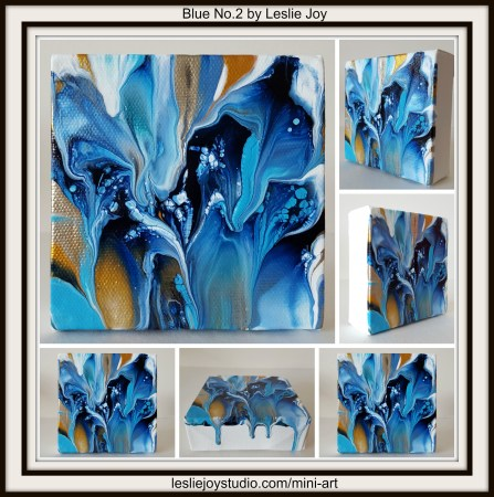 Blue No.2, abstract acrylic painting by Leslie Joy