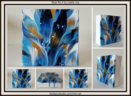 Blue No.4, abstract acrylic painting by Leslie Joy