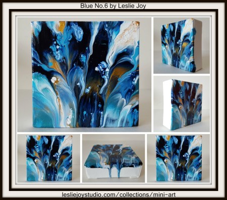 Blue No.6, abstract acrylic painting by Leslie Joy