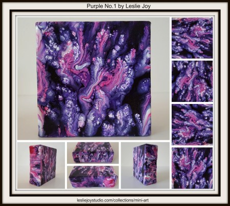 Purple No.1, abstract acrylic painting by Leslie Joy