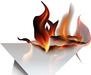 papier en feu