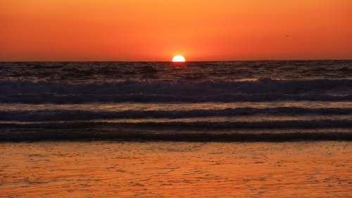 Coucher de soleil Manhattan Beach Los Angeles