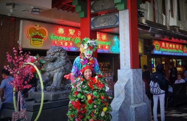 clown chinois à Chinatown Sydney