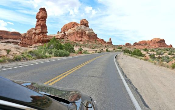 route Arches National Park