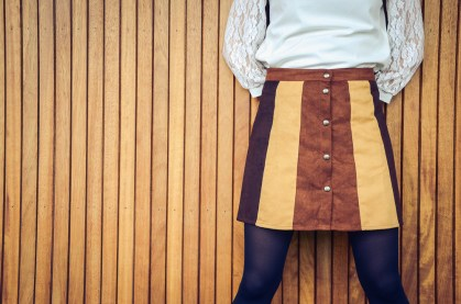 Earth tone outfit skirt