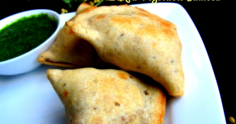 BAKED VEGETABLE SAMOSAS