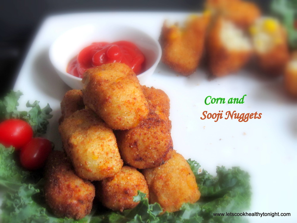CORN AND SOOJI NUGGETS