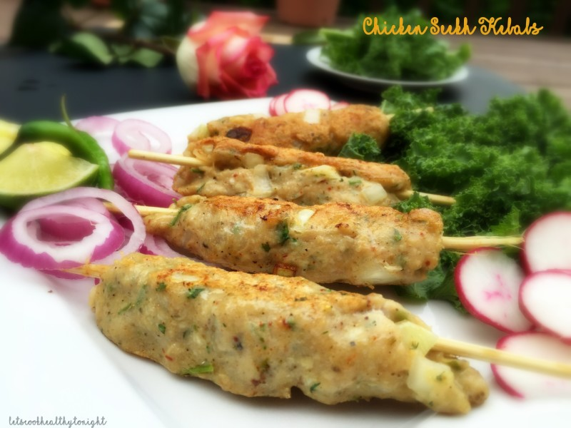 QUICK CHICKEN SEEKH KEBABS| Minced chicken breast on skewers