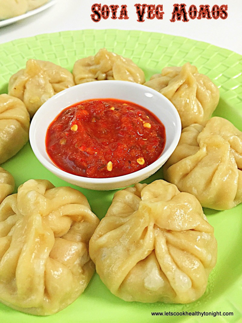 Soya Veg Momos | Steamed Vegetarian dumplings