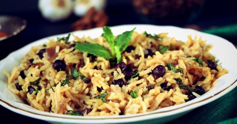 Kala Chana Pulav| Black Gram Pilaf