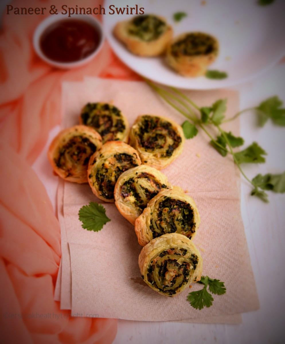 Paneer and Spinach Swirls