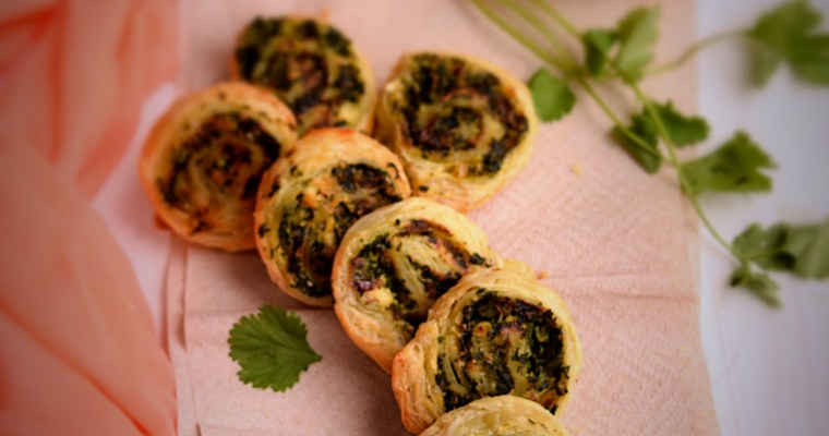 Paneer and Spinach Swirls