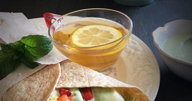 Egg White Salad Whole Wheat Tortilla Wraps
