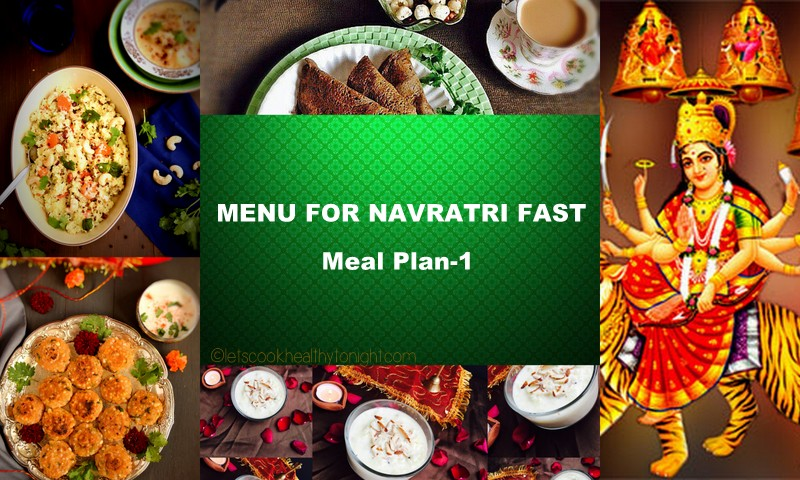 Menu for Navratri Fast- Meal Plan 1