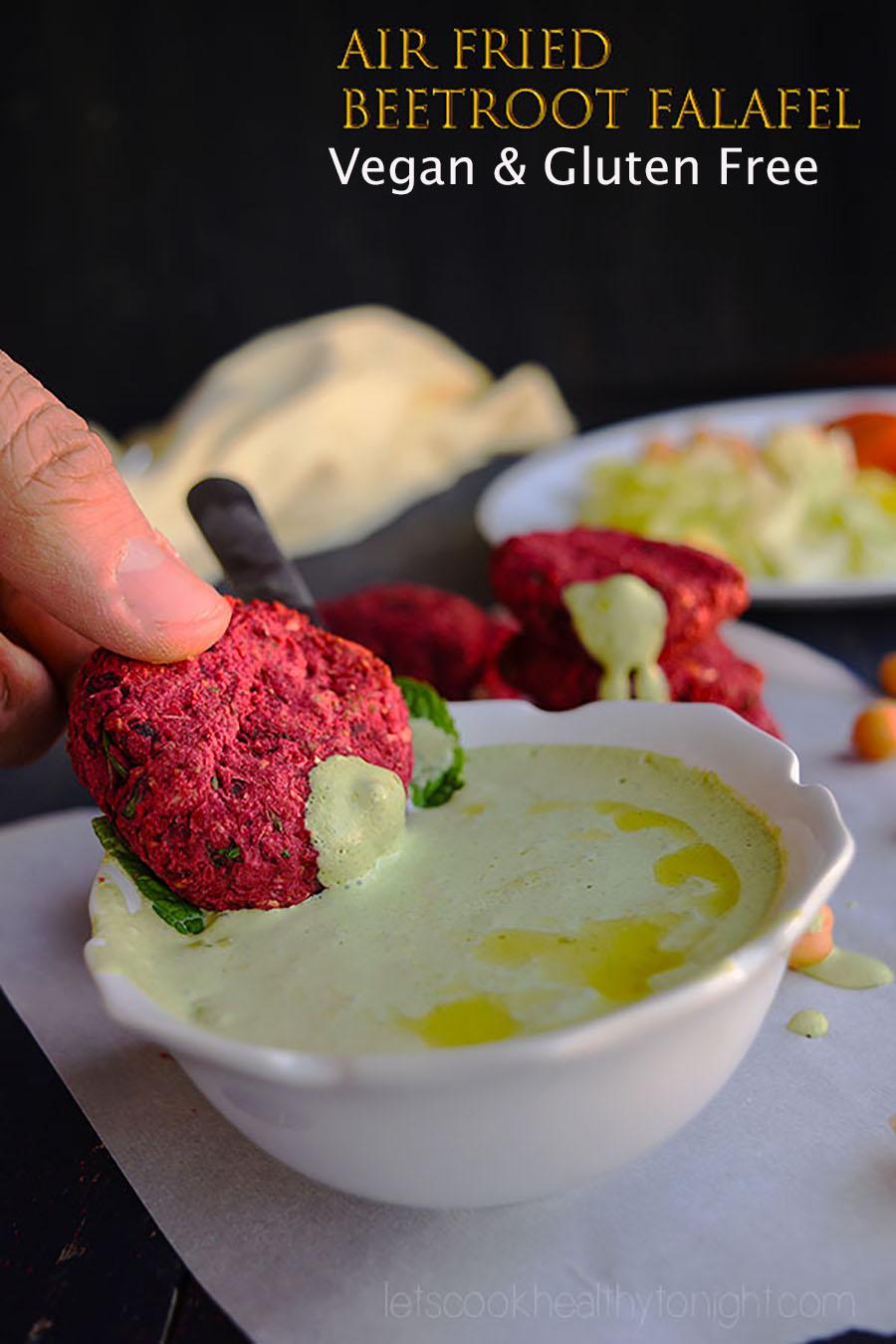 Air Fried Beetroot Falafel- Gluten-free and Vegan