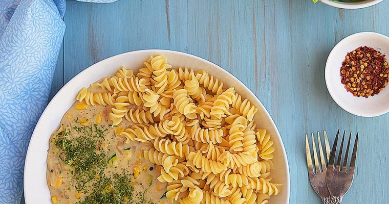 White Sauce Vegetable Pasta