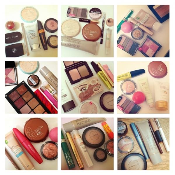 Grid of Makeup August