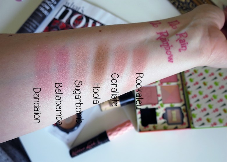 Benefit Box Blushes Swatches