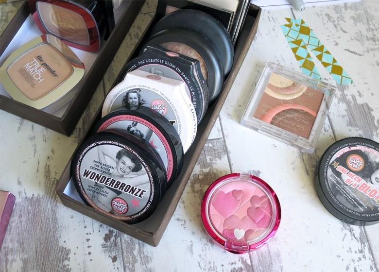 Face Powder Makeup Storage