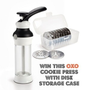 Tuesday's Blogiversary Giveaway: The Oxo Cookie Press & Disk Storage Case