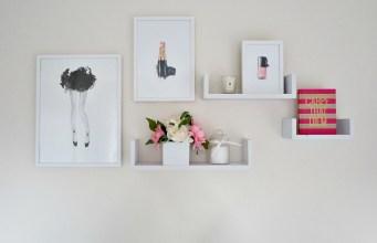 Gallery walls using Scandinavian prints