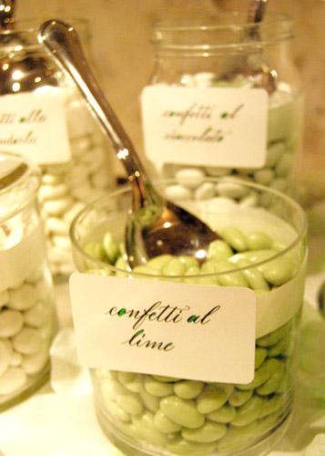 Etichette confettata matrimonio - Decorazione a mano