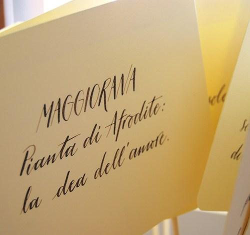 Segnatavolo nozze originale - Scritto a mano - Personalizzato