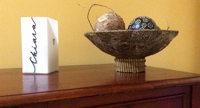 Lampada in vetro personalizzata - Decorata a mano