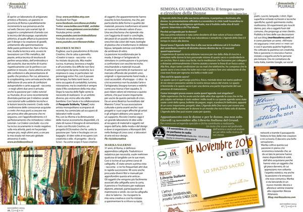 Passaparola Magazine - Periodico italiano in Lussemburgo - Marika Salerno - La creatività è il nostro mestiere