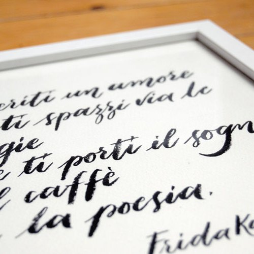 Regali personalizzati: citazione in calligrafia | Quadri moderni