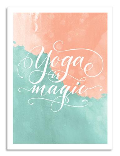 """Idée cadeau femme passionnée de yoga : Affiche pour déco murale """"Yoga is magic"""""""
