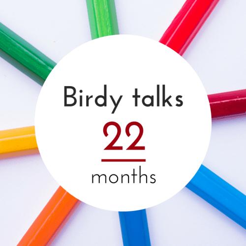 Birdy's language progress