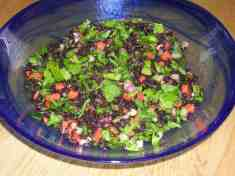 Pea Shoot and Black Rice Salad