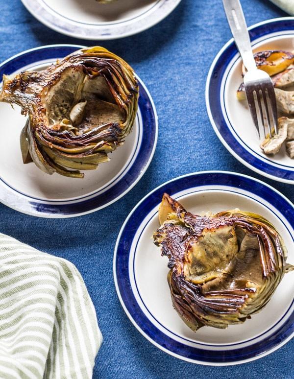 Lemon Roasted Artichokes