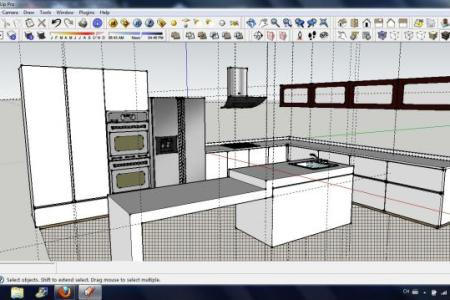 kitchen design 3d perspective 1