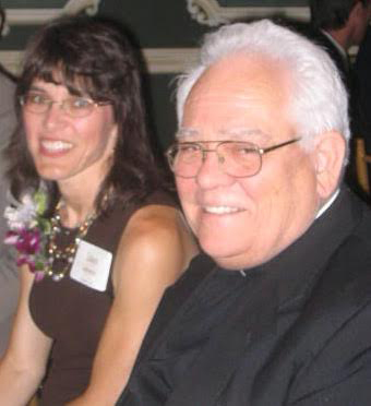 Laura Gallimore and Monsignor Lewis