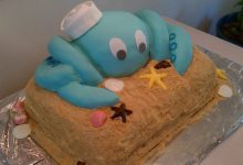 Baby Shower Octopus Cake
