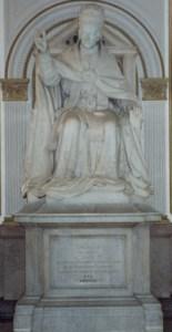 Giuseppe Luchetti statue, Leo XIII, 1890.