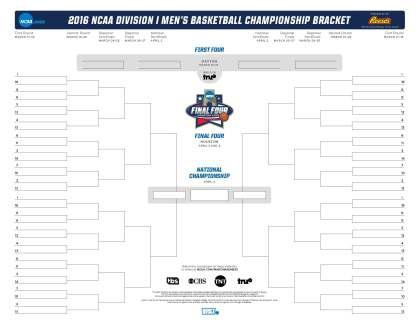2016 NCAA Brackets