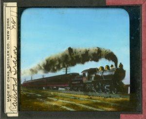"""Railroad Train"" Lantern Slide #11"