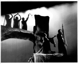 An eerie scene from the 1952 production of MacBeth. Drama Department Records, American Catholic History Research Center and University Archives.