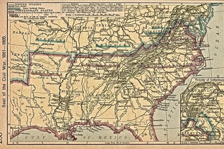 maps united states map during the civil war