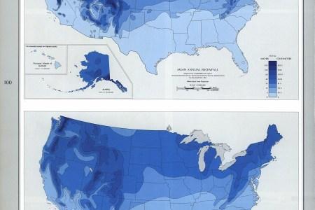 snowfall map usa images